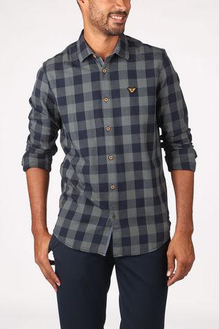PME Legend Shirt Psi205228 dark khaki/dark blue