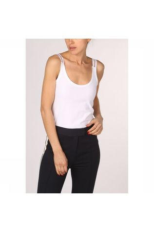 Yaya T-Shirt Stretch Singlet With Splitted  Elastic Straps Wit