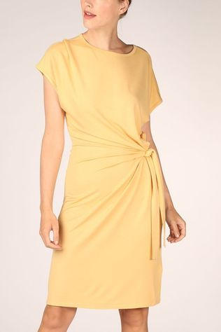 Yaya Dress Modal With Knotted Detail dark yellow