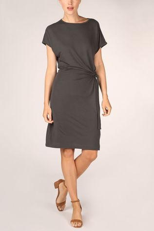 Yaya Dress Modal With Knotted Detail black