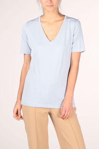 Yaya T-Shirt Modal V-Neck light blue
