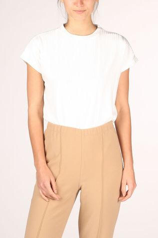 Yaya T-Shirt Ribbed With Cap Sleeves Wit