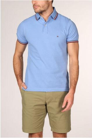 Tommy Hilfiger Polo Tommy Tipped Slim Bleu Clair