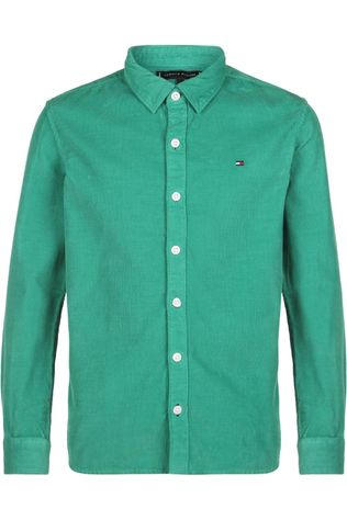 Tommy Hilfiger Chemise Ribcord L/S Vert