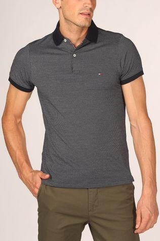 Tommy Hilfiger Polo Two Tone Textured Slim Dark Blue/Ass. Geometric