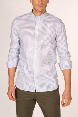 Tommy Hilfiger Shirt Slim Dot Print White/Ass. Geometric