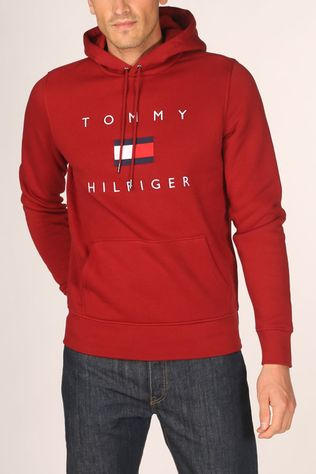 Tommy Hilfiger Pullover Tommy Flag Hilfiger Hd dark red
