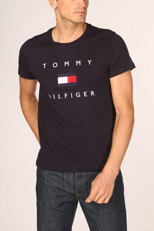 Tommy Hilfiger T-Shirt Tommy Flag Hilfiger Donkerblauw