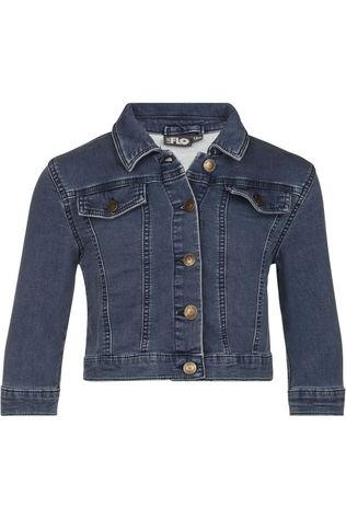 Like Flo Blazer Flo Girls Denim Strepen/Effen