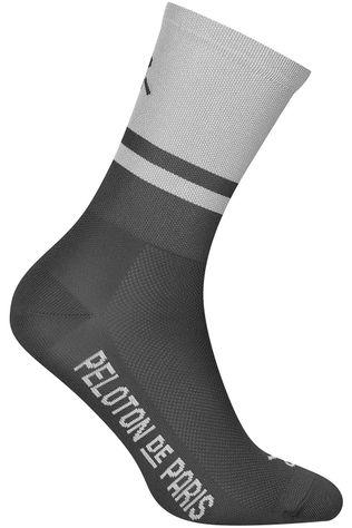 Peloton de Paris Chaussette Two-Tone Light Grey/Grey PLTN Gris Moyen/Gris Foncé