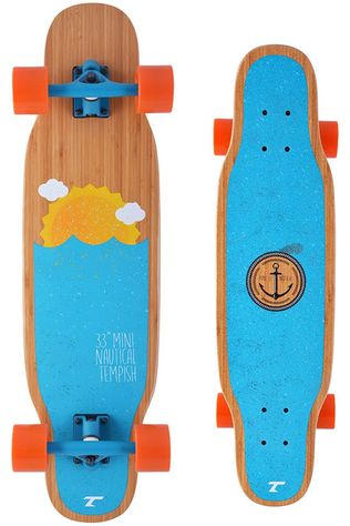"Tempish Longboard Mini Nautical 33"" Lichtbruin/Blauw"