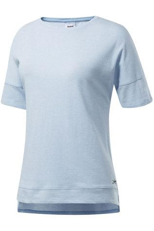 Reebok T-Shirt Ts Ac+Cotton Tee Bleu Clair