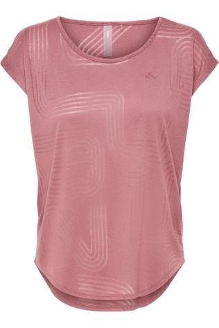 Only Play T-Shirt Onpjamia Curved Burnout Ss mid pink