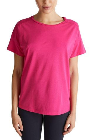 Esprit T-Shirt Sleeve Backside Logo Print Fuchsia