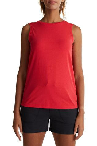 Esprit Top Sleeveless Mesh red