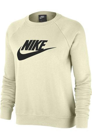 Nike Pull NSW Essential Fleece Blanc Cassé/Noir