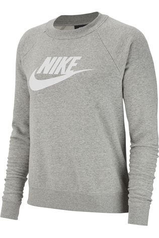Nike Pull NSW Essential Fleece Gris Clair Mélange
