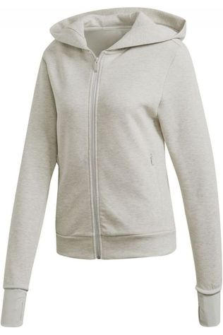 Adidas Pullover W Ver Fz Hd Light Grey Marle