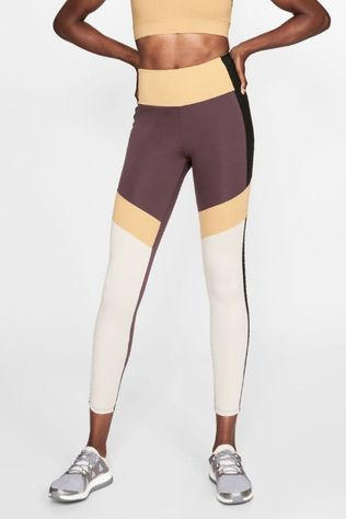 Röhnisch Collants De Sport Kay Blocked Pourpre Foncé/Assorti / Mixte