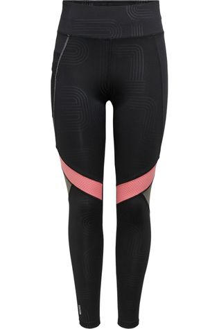 Only Play Tights Onpjoki Hw Aop Train black/mid pink