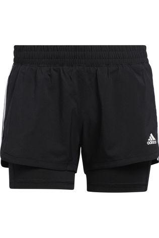 Adidas Short Pacer 3S 2 In 1 Zwart