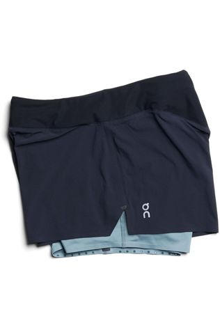 On Running Short Running Shorts Zwart/Lichtgroen