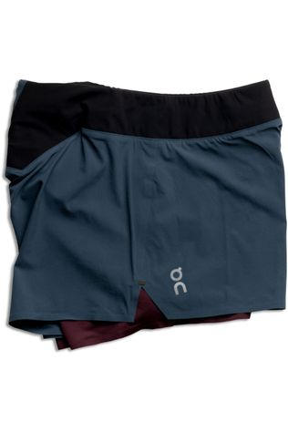 On Running Short Running Shorts Marineblauw/Bordeaux / Kastanjebruin
