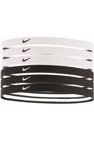 Nike Equipment Hair Ribbon Swoosh Sport Headbands 6PK 2.0 black/white