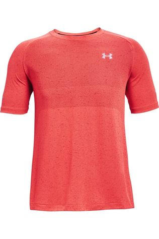 Under Armour T-Shirt Seamless Run Ss Rouge