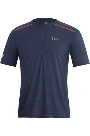 Gore Wear T-Shirt Contest Zip Bleu Foncé/Orange