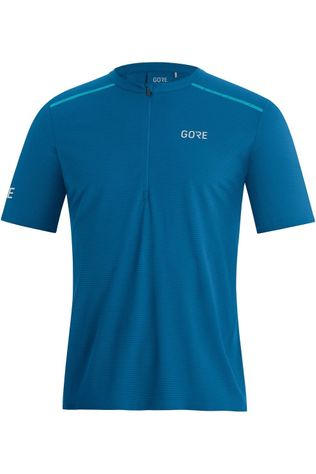 Gore Wear T-Shirt Contest Zip Middenblauw/Turkoois