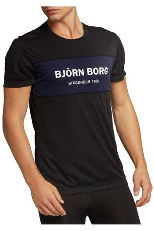 Bjorn Borg T-Shirt Atos Tee Running From Daylight Zwart