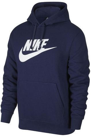 Nike Pullover NSW Club Graphic Hoodie Dark Blue (Jeans)