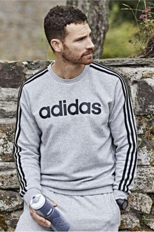 Adidas Pullover E 3S Crew FL Light Grey Marle
