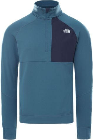 The North Face Trui Ambition 1/4 Zip Mid-Layer Middenblauw (Jeans)/Marineblauw