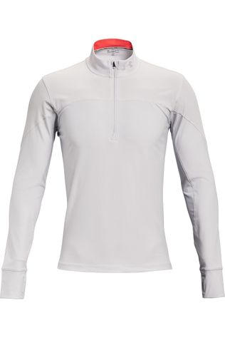 Under Armour Pull Qualifier Half Zip Blanc Cassé