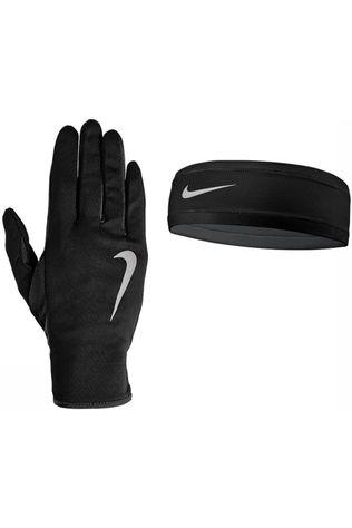 Nike Equipment Bandeau et Gant Set Run Dry Noir