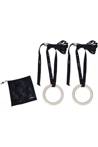 Tunturi Gymrings Wood 23 cm (sangle inclus) Noir/Ecru