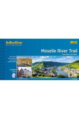Bikeline Reisboek Moselle River Trail Metz to the Rhine cycling guide GPS 2017