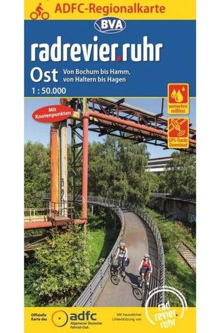ADFC Radrevier.Ruhr East Cycling Map 2018