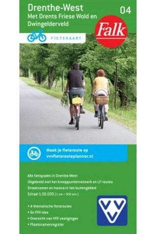 Falk Drenthe-West-4-fietskaart +Drents-Friese Wold 2017