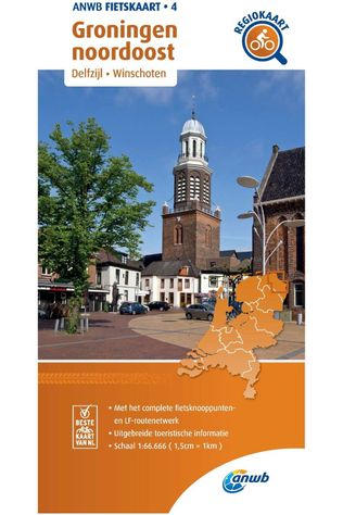 ANWB Groningen North East Cycling Map 2020