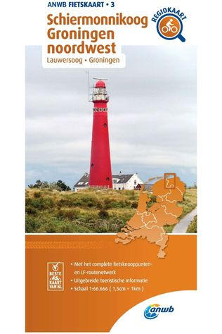 ANWB Schiermonnikoog Groningen North West Cycling Map 2020