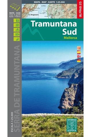 Alpina Editorial Mallorca -Tramuntana Sud Map&Hiking Guide - Alpina 25 2018
