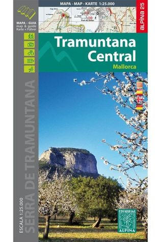 Alpina Editorial Mallorca - Tramuntana Central Gr11 Map&Hiking Guide - Alpina 25 2020