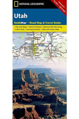 National Geographic Utah-state-guide map NP ng r/v (r) wp-N09/2017 2014