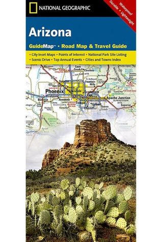National Geographic Arizona state guide map ng r/v (r) wp 2019