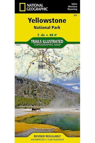 National Geographic Yellowstone NP 201 GPS ng r/v wp (WY+MT+ID) 2019