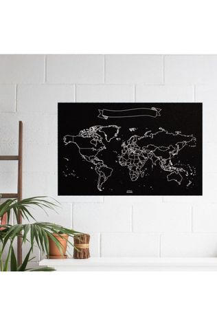 MISS WOOD Woody Map Chalkboard Map Xlarge 90 X 60Cm 2016