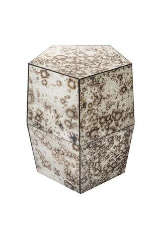 Yaya Home Stoel Mirrored Stool Stained Zilver